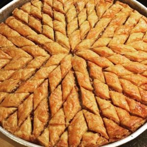 Başak kesimi baklava
