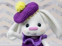 Amigurumi Sarkık Kulaklı Tavşan Tarifi