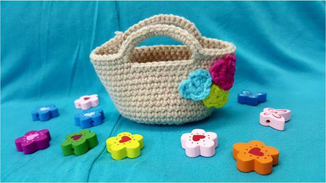 Örgü minyatür Çanta yapımı
