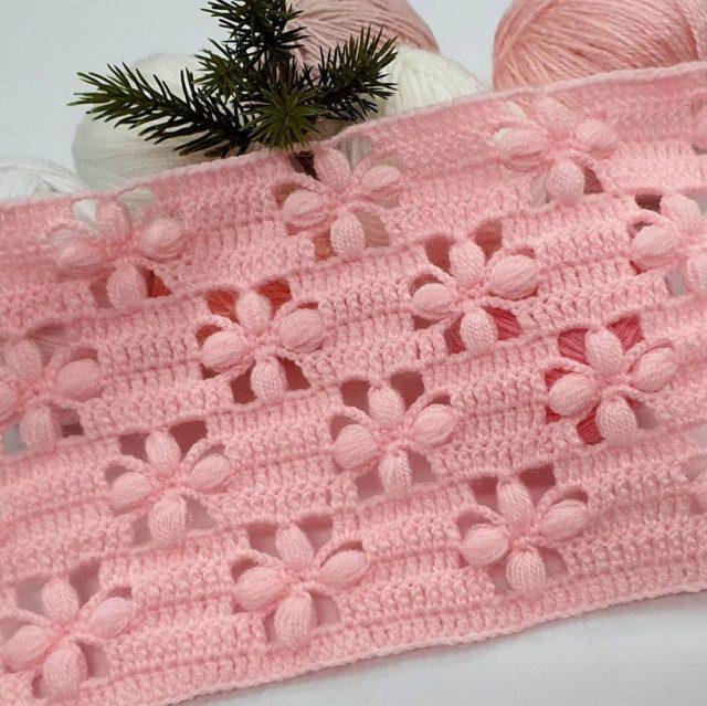 Tığ İşi Bebek battaniye modeli