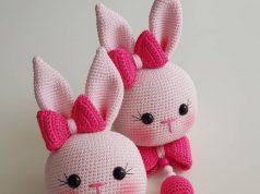 Ücretsiz Amigurumi tarifleri & Tavşan Müzik kutusu